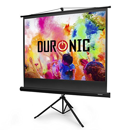Duronic Projector Screen TPS60 /43 60' Portable Tripod Projection Screen Brilliant Matt White For | School | Theatre | Cinema | Home | (Screen: 122cm (W) X 91cm (H) 4K / 8K Ultra HDR 3D Ready