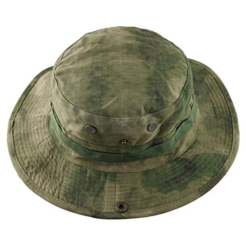WDRSY Sonnenschutz Kopf Tactical Airsoft Sniper Boonie Hut Herren Military Bucket Hat Sommer Uv-Schutz Panama Hüte Outdoor Camouflage Sun Cap-C.