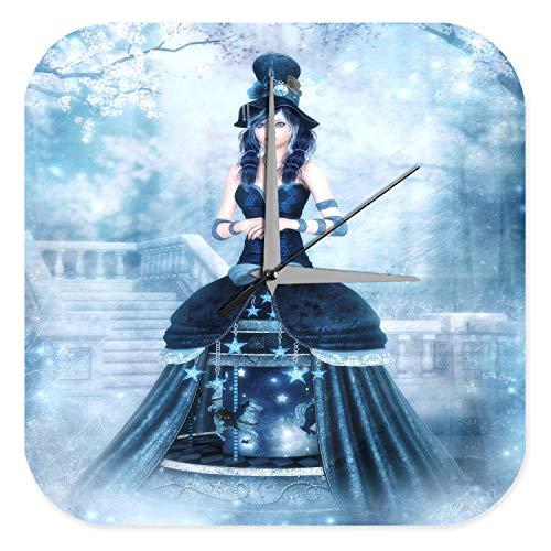LEotiE SINCE 2004 Horloge Murale Gothic Gothique Manga Neige Dream World Décoration