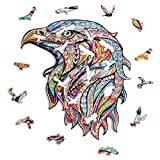 Leisure Puzzles De Rompecabezas De Madera De águila para Adultos Y Niños - 5 Mm De Grosor De Piezas De Rompecabezas De Forma De Animal único - Juguetes Educativos Challenguos Eagle