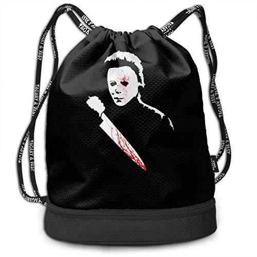 shenguang Couteau d'horreur tueur de sang sac à dos avec cordon de serrage sacs de grande taille fermeture à glissière résistant à l'eau sport gymnase Shopping Yoga danse plage cadeaux sac à