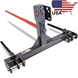 """United Attachments 3 Point Category 1 Cat 2 Heavy Duty 49"""" Hay Bale Super Spear"""