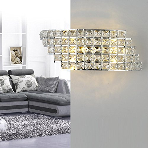Luxus Kristall-Wandleuchte LED 6W Moderne Leuchte Anhänger Kristall Innen Wand Beleuchtung Decor Kristalllampe Kreativ Design Wandlampe für Wohnzimmer Schlafzimmer