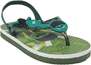 Hopscotch Toothless by Purple United Boys PVC Marvel Slippers in Green Color