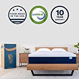 Sleep Innovations Shiloh 14-inch Memory Foam Mattress Bed in a Box, Made in The USA, 10-Year Warranty, King, White