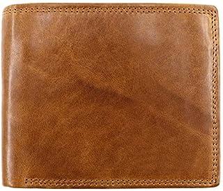 GUMAOPAJIAAAqb Monederos de Mujer, Men's Wallet Classic Vintage Genuine Leather Wallet Cowhide Anti Theft Purse Male Busin...