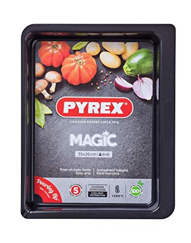 Pyrex - Magic - Plat à Four Rectangulaire en Métal 4.60 L / 35x26 cm