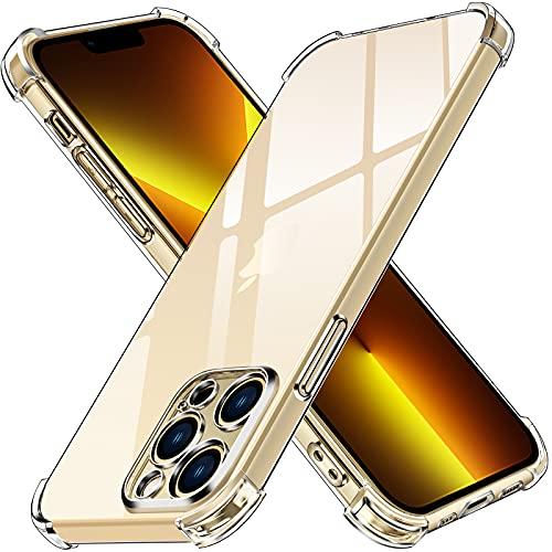 ivoler Funda Compatible con iPhone 13 Pro con Protección de La Cámara, Carcasa Protectora Antigolpes Transparente con Cojín Esquina Parachoques, Suave TPU Silicona Caso Delgada Anti-Choques Case