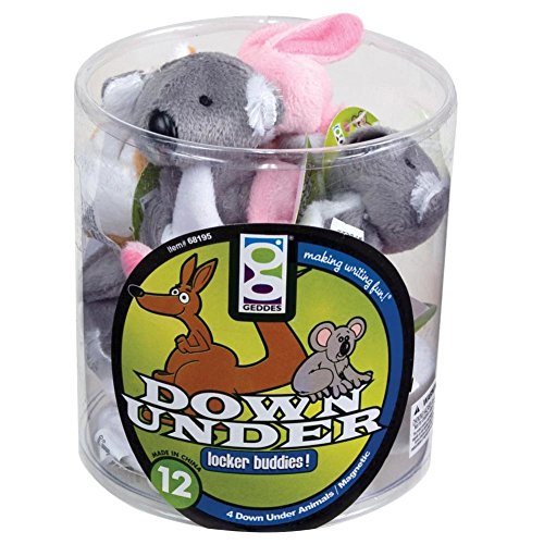 Raymond Geddes Down Under Locker Buddies Plush Magnet, 12 Pack (68195)