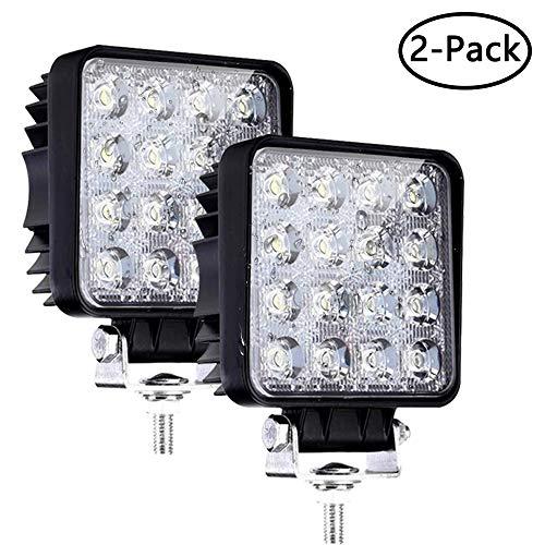 LED Arbeitsscheinwerfer, 2x 48W LED Offroad Flutlicht 10V-30V Arbeitslampe 6500K Wasserdicht IP67 Abstrahlwinkel 60 Für SUV, UTV, ATV