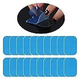 LIHAO 20 Almohadillas de Gel Electroestimulador EMS Gel Hojas de Repuesto Gel Abdominal Muscular (4X6CM)