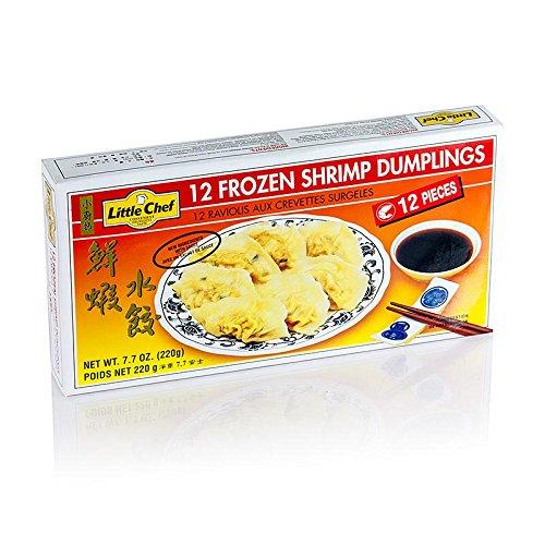 Wan Tan - Gyoza Teigtaschen mit Shrimpsfüllung (Garnelen, Surimi), TK, 2x220 g, 24 x 18g. insgesamt 440g.