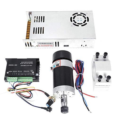 LHQ-HQ WS55-180 Controlador de controlador de motor CNC, ER11 400W controlador de controlador CNC con potencia de fijación de motor para máquina de grabado
