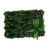 Shiwaki - Paneles de plantas verdes realistas para decoración de suelo de pared para interiores y exteriores, diseño de hojas de plátano