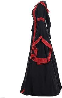 Women O-Neck Long Sleeve Maxi Dress ❀ Ladies Vintage Celtic Medieval Floor Length Renaissance Gothic Cosplay Dress