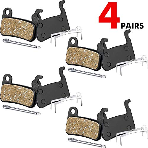 4 Pairs Resin Brake Pads Bicycle Disc Brake Pads Compatible with Shimano Deore XT XTR LX SLX Hone Alfine Saint Disc Brake