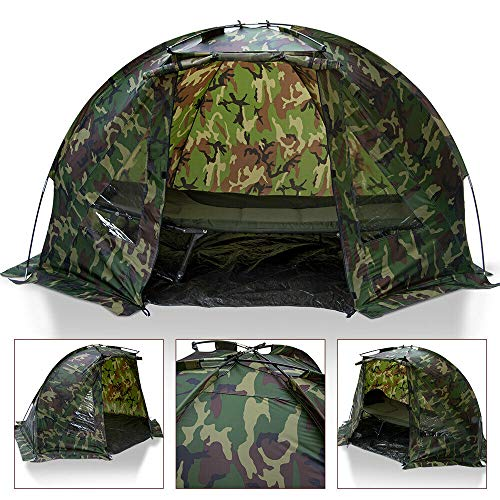 DNA Leisure Carp Fishing 1 Man Bivvy Day Tent Shelter In Camo DPM With Pegs and Detachable Groundsheet