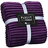 GREEN ORANGE Throw Blanket for Couch - 50x60, Lightweight, Purple - Soft, Plush, Fluffy, Warm, Cozy - Perfect for Bed, Sofa