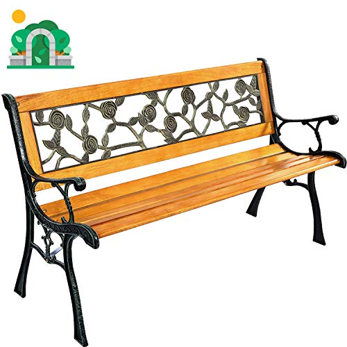 Garden Bench Patio Porch Chair Deck Hardwood Cast Iron Love Seat Best Massage