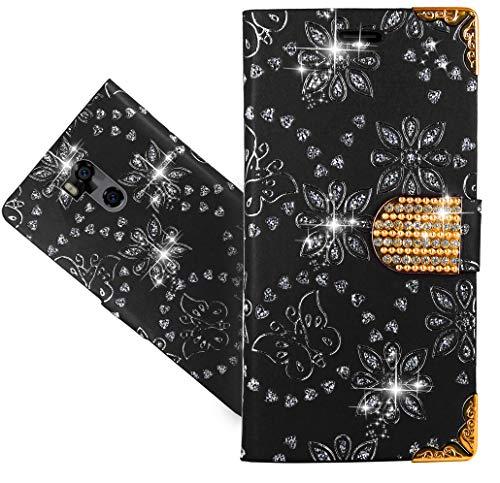 Ulefone Power 5 Handy Tasche, CaseExpert® Wallet Case Cover Flower Bling Diamond Hüllen Etui Hülle Ledertasche Lederhülle Schutzhülle Für Ulefone Power 5