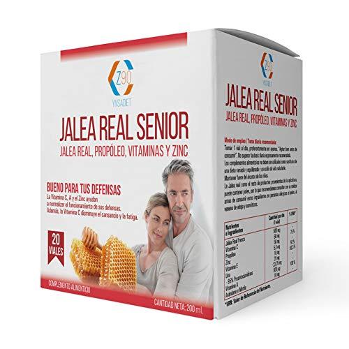 Gelée Royale mit Propolis - Senior Jelly mit Vitamin C - Vitamin E und Zink - Erhöhen Sie Ihre Abwehrkräfte - Mehr Vitalität - 20 Durchstechflaschen - Z90