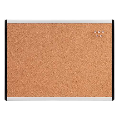 Amazon Basics Kork-Pinnwand, 40 cm x 60 cm, Aluminium- / Kunststoffrahmen