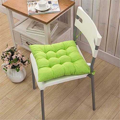 SWECOMZE Dicke Sitzkissen, 2 Stück Stuhlkissen Gartenstuhlkissen 40 x 40 cm, Sitzauflage für Indoor Uns Outdoor (Grün)