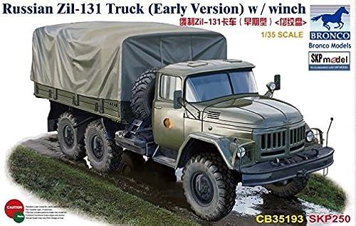 nueva gama alta exclusiva Unbekannt Bronco Models cb35193 Maqueta de Russian zil-131Truck (Early Versión) Versión) Versión) W Winch  tomar hasta un 70% de descuento