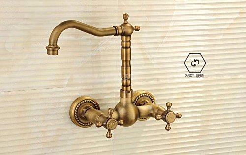 Loodloze kraankraan warm en koud, kraan, dubbele gat, muurbevestiging, dubbele greep NGRJG werkt een verscheidenheid aan keukenkranen, gootkranen, badkamer en keuken installatie, badkamer sanitair.