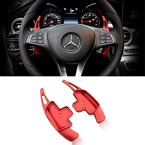 Paddle Shifter Extension for Mercedes Benz,Miniclue Aluminum Alloy Shift Paddle Blade fit for A B C CLA CLS E G GL GLA GLC GLE GLS Metris S SL SLC Class