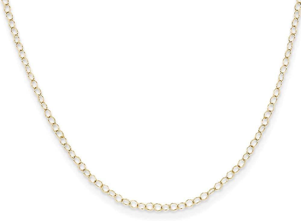 Chain Necklace 14K Yellow Gold Cable style 15 in 1 mm