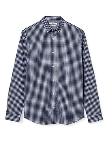 JACK & JONES Herren JPRBLAGINGHAM Classic Shirt L/S Hemd, Navy Blazer, L