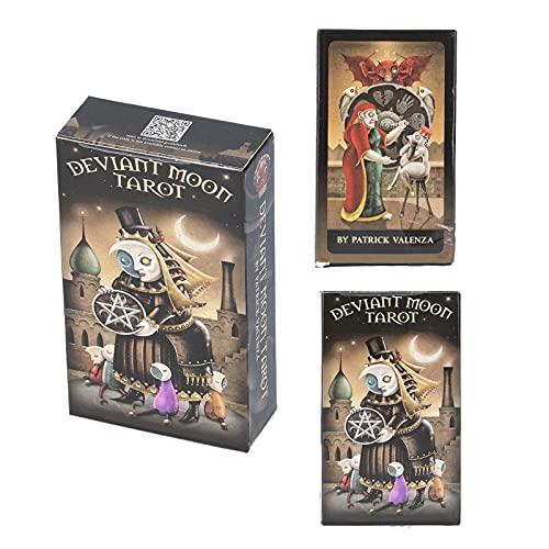 Sorandy 78 Tarotkarten Decks, Deviant Moon Classic Tarotkarten, Geeignet für Anfänger und Tarotkarten-Enthusiasten Future Fate Forecasting Cards Tarot Deck Divination Deck Tarotkarten für Anfänger