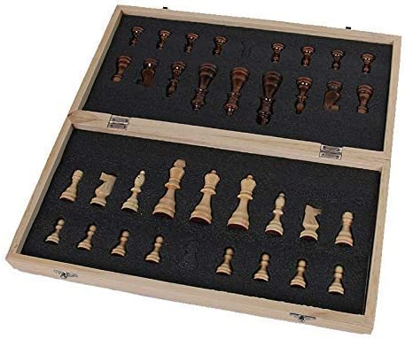 Schaken 39cm X 39cm Houten Internationaal Schaakspel Bordspel Opvouwbaar Magnetisch Vouwbord Verpakking (Intellectueel Denken) 34x34cm