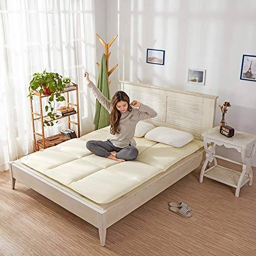 zyl Japanese Futon Mattress Floor Thick Plush Tatami Mattress Portable Camping Mat for Kids Foldable and Rollable B 150 x 200 cm