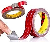 Cinta adhesiva de doble cara 3M, cinta adhesiva de doble cara, de alto rendimiento, extra fuerte, resistente a la temperatura, impermeable, cinta de montaje, para coche, hogar y oficina decoración