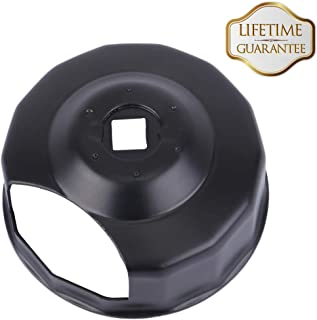 Oil Filter Cap Wrench Tool for 1984-2019 Harley Davidson Spin-on Oil Filters (Except '15-later XG) Twin Cam Oil Filters with 76 x 14 Flutes (Crank Sensor) - By KIWI MASTER
