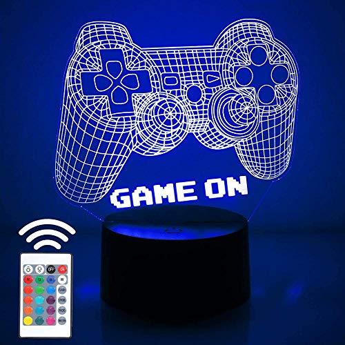 Lámpara 3D Lámpara De Mesa Decorativa Gamepad 7 Colores Control Táctil Con Buena Imagen Panel Decoración Regalo Creativo Casa Oficina,Regalo De Valentín