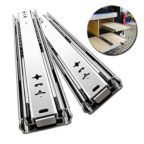 L-KCBTY Schubladenschienen Vollauszüge - Schubladenführung-Stabilit Leichtes Laufverhalten,Tragkraft 120 Kg, Schränke Teleskopschiene Bis Zu 125 cm 1Paar