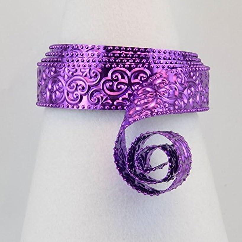 Vaessen Creative Oriental Embossed Design Aluminium Wire, Lilac, One Size