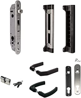 LOCINOX FORTYSET 40I MA Complete set to equip your metal, PVC or aluminium gates with a 10 mm adjustable, stainless steel insert lock and keep.