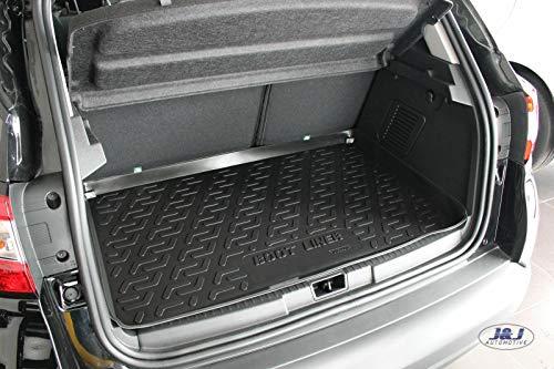 J&J AUTOMOTIVE   Premium Tapis DE Coffre Caoutchouc Compatible avec Renault CAPTUR 2014-2019