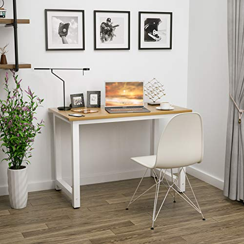 "Mecor 43""Large MDF Computer Desk PC Laptop Table Study WorkStation Home Office Furniture Wood"
