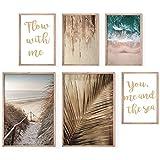 Bold Design Poster Set Strand & Meer - 4 x DIN A4 & 2 x DIN