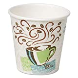 Dixie Products - Dixie - Hot Cups, Paper, 10 oz., Coffee Dreams Design, 500/Carton - Sold As 1 Carton - Patented paper process insulates better than costly double-cupping. - Cup design provides comfortable, secure feel and non-slip hold. - Contains no polystyrene foam.