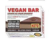 Vegan BAR - Cashew Vanilla Ice Cream Sandwich - Organic, Raw, Low Carb, Sugar Free, Gluten Free, Dairy Free, Soy Free, Vegan! 3-Pak