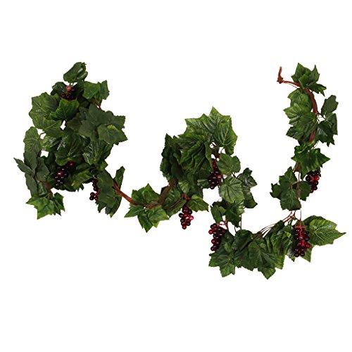 MagiDeal Künstliche Weinrebe Blätter und Blüten Kunstpflanzen Deko