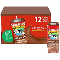 REAL, ORGANIC MILK ON-THE-GO: Single-serve chocolate milk boxes are great for lunchboxes and on-the-go snacking SHELF STABLE: Ultra-pasteurized (UHT) milk for easy, non-refrigerated storage ORGANIC GOODNESS: Certified USDA Organic milk from happy cow...