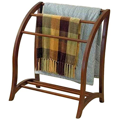 Vintage Quilt Rack Stand Wood Blanket Stand Bedspread Storage Display Towel Bar Large 3 Tier Beechwood Wooden Bedding for Bedspreads Comforters Towels Home Bedroom Quest Room Free Standing Towel Stand