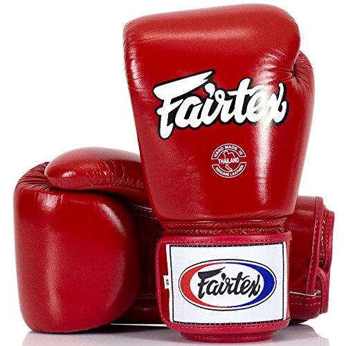 Fairtex Boxhandschuhe, BGV-1, rot, Boxing Gloves MMA Muay Thai Thaiboxen Size 10 Oz